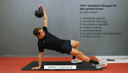 Top 7 Kettlebell Übungen für dein Training - turkish get up